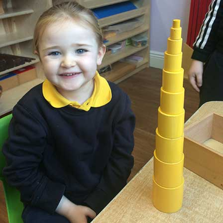 Smiling Girl Bridgets Montessori