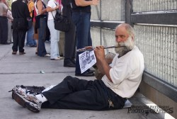 Man With Flute at WTC