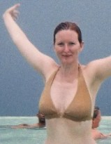 This is me after nearly 7 days on the sunny Island of Tobago for my honeymoon.  Clearly, I don't tan very well.