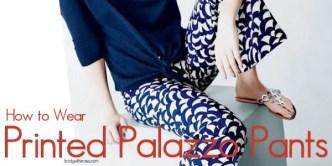 printed palazzo pants