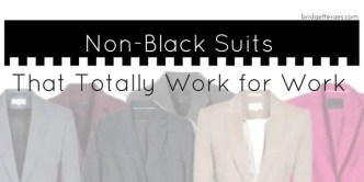 non-black suits