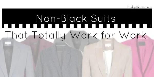 non-black suits