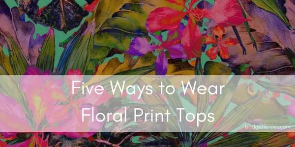 floral print tops