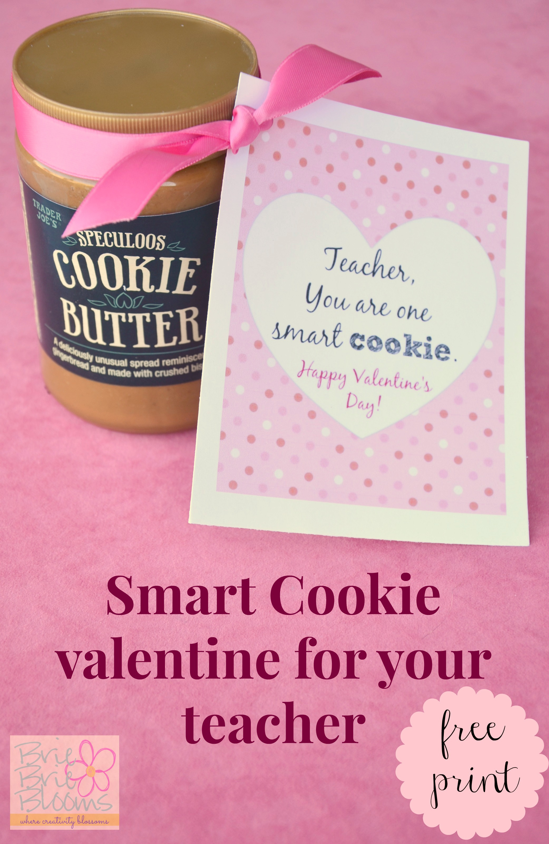 Smart Cookie Valentine For Your Teacher Free Printable Card