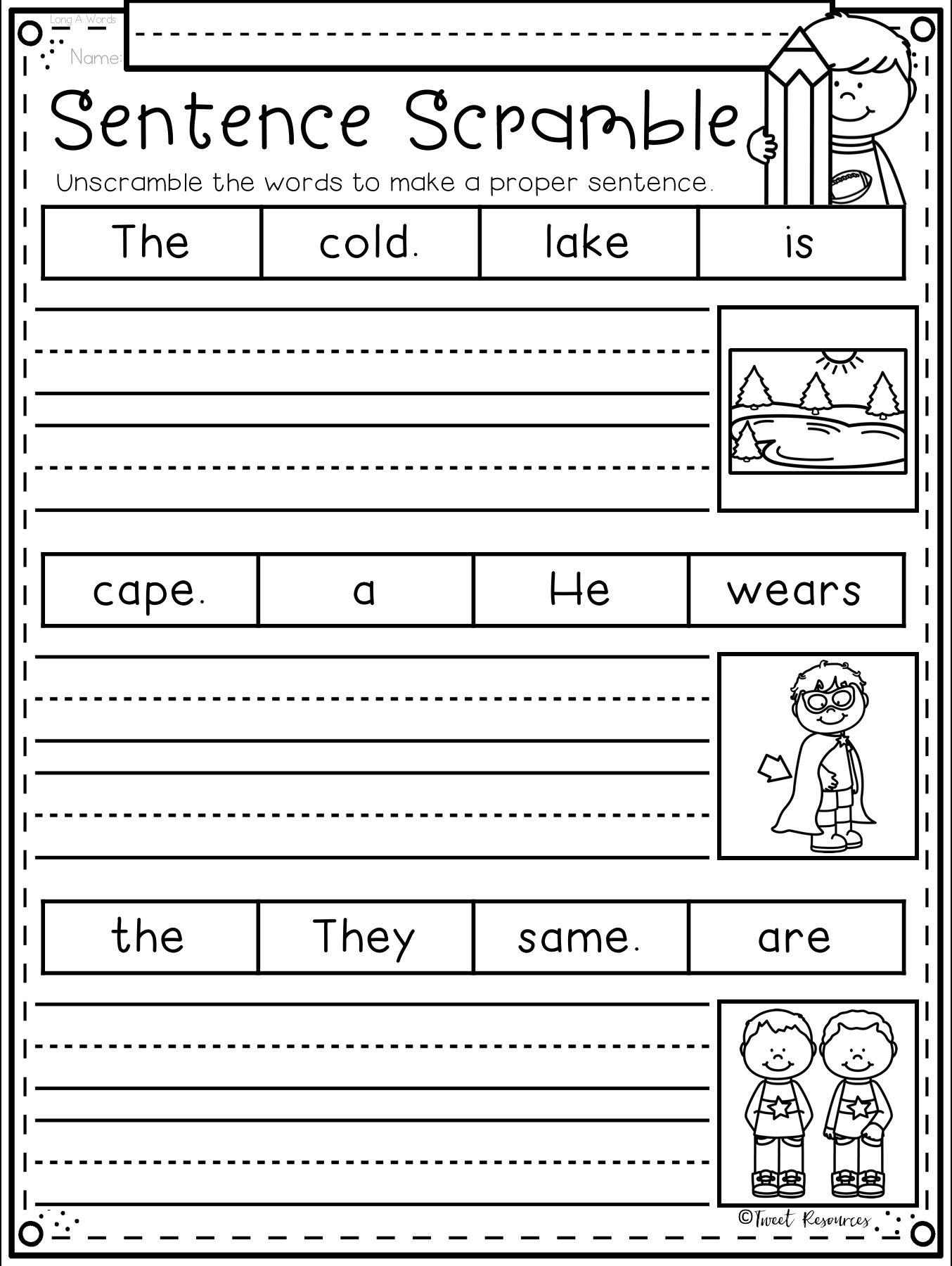 1st Grade Handwriting Worksheets