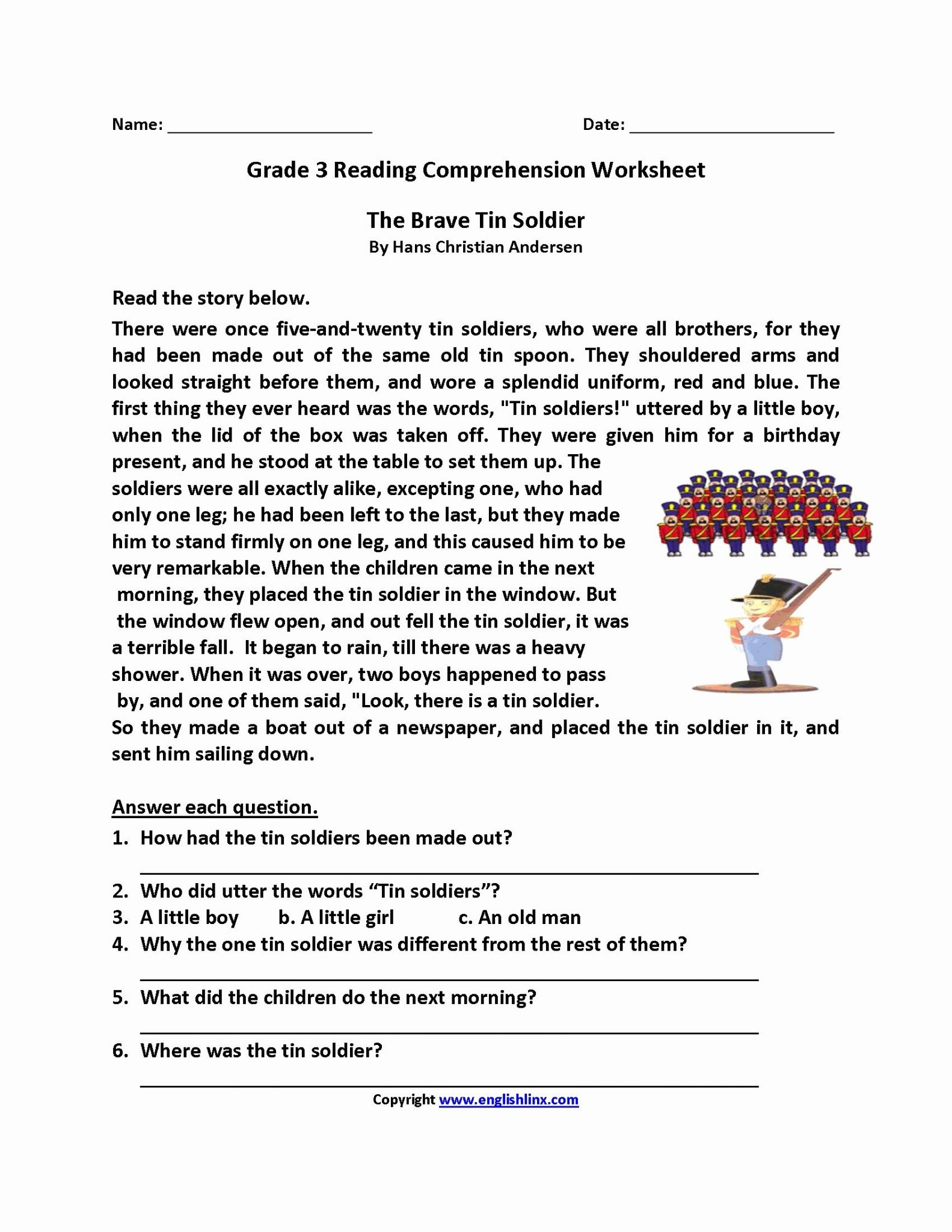 2nd Grade Reading Comprehension Worksheets