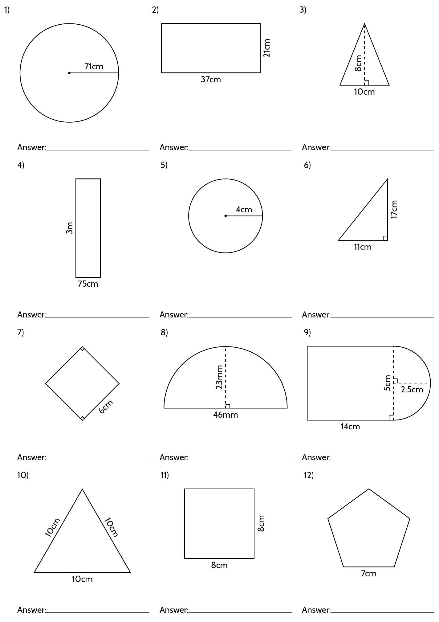 5th Grade Geometry Worksheets