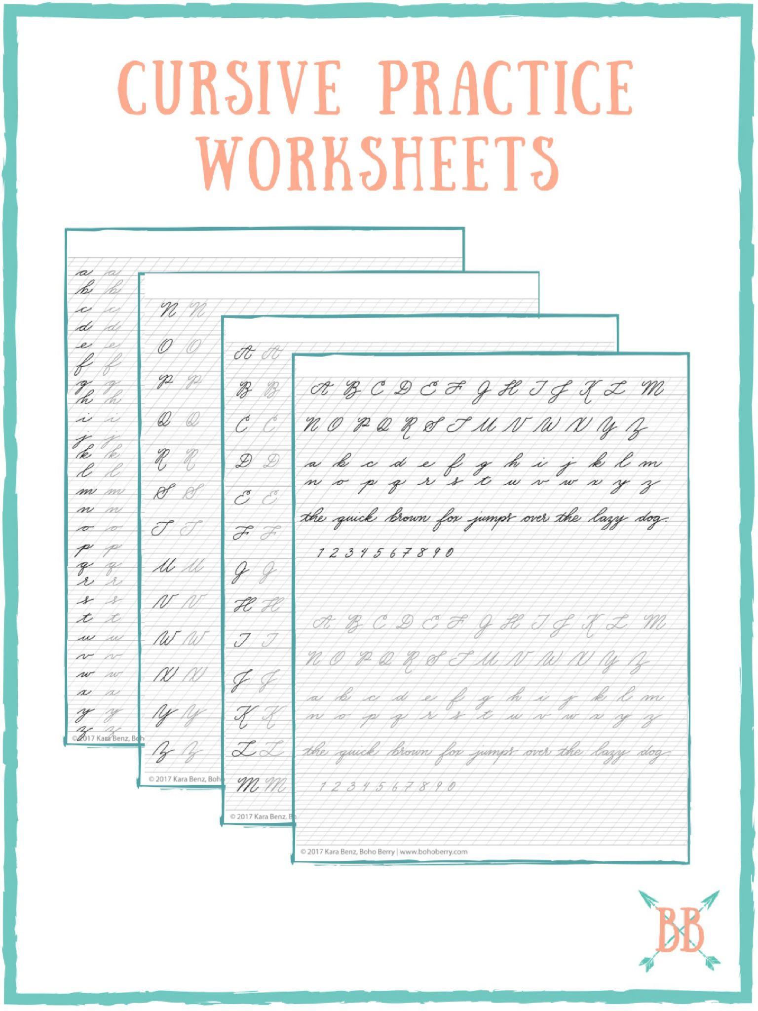 Abc Cursive Worksheets