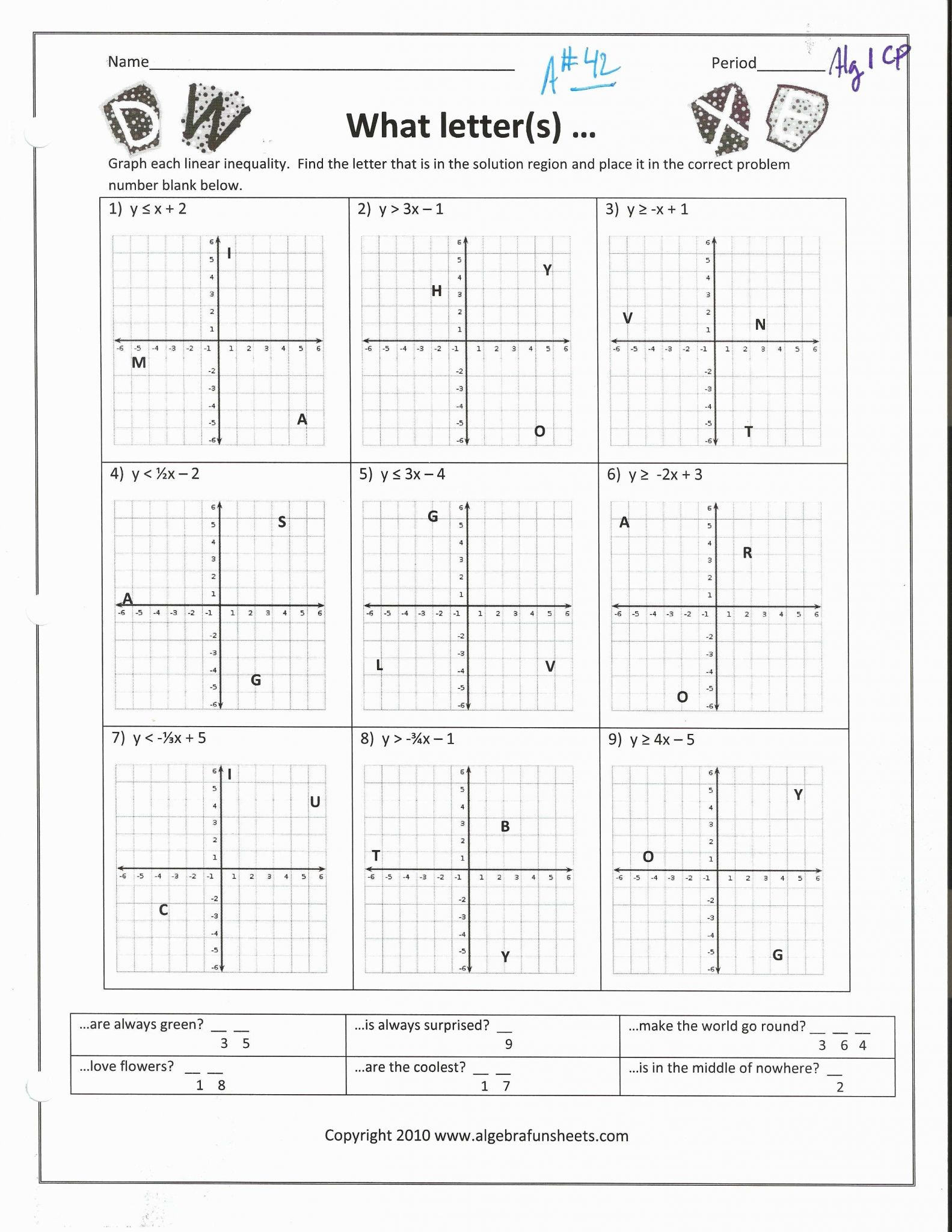 Absolute Value Inequalities Worksheet Answers