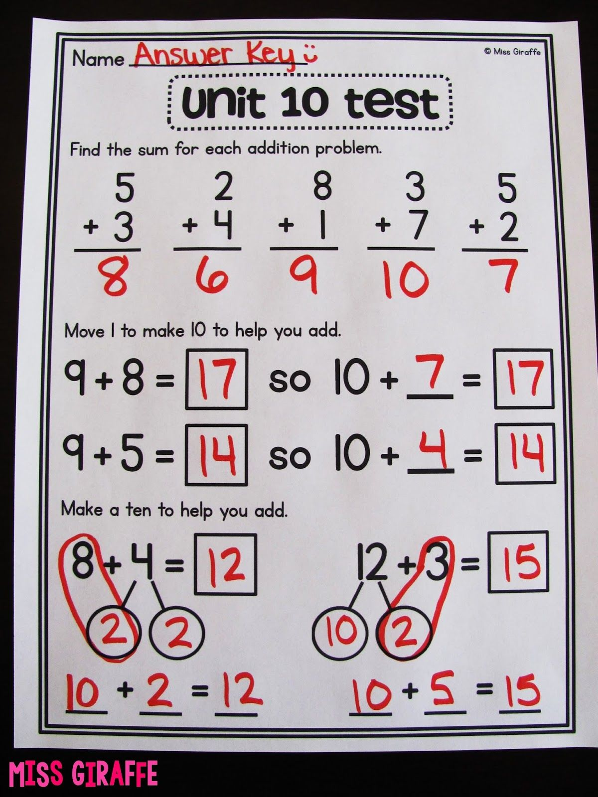 Addition And Subtraction Worksheets For Grade 1