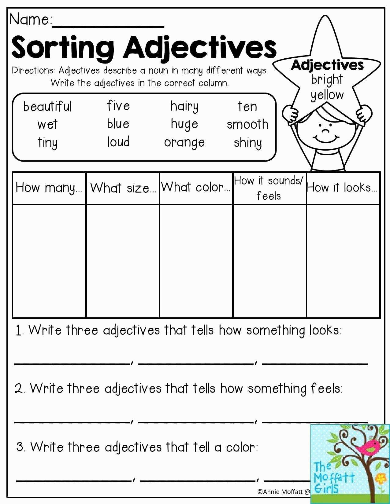 Agreement Of Adjectives Spanish Worksheet