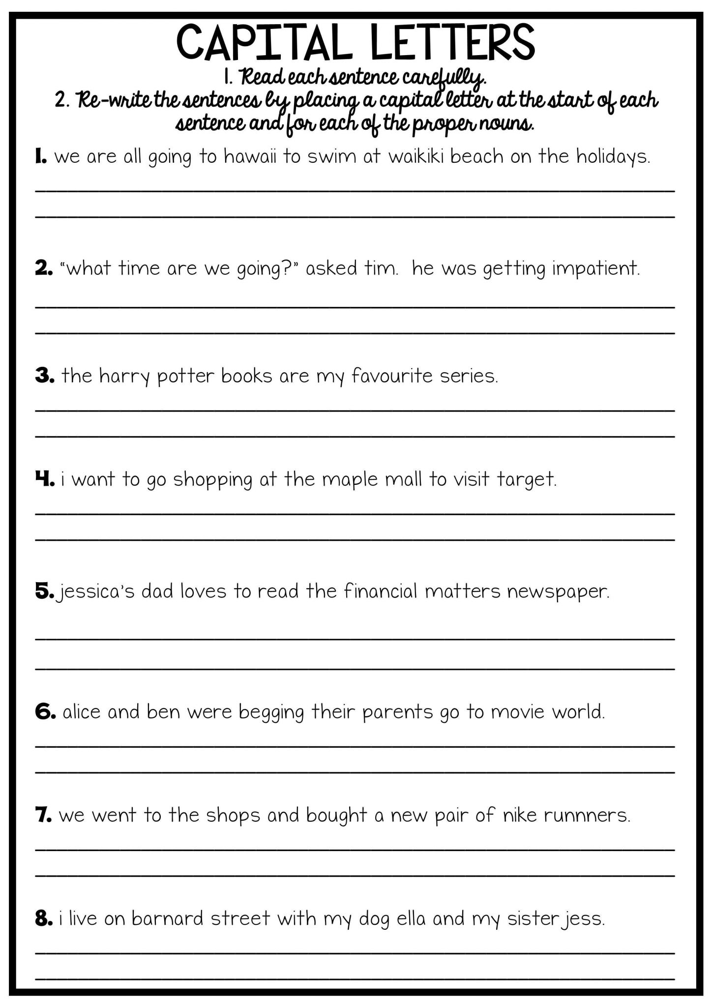 Apostrophe Worksheets With Answer Key