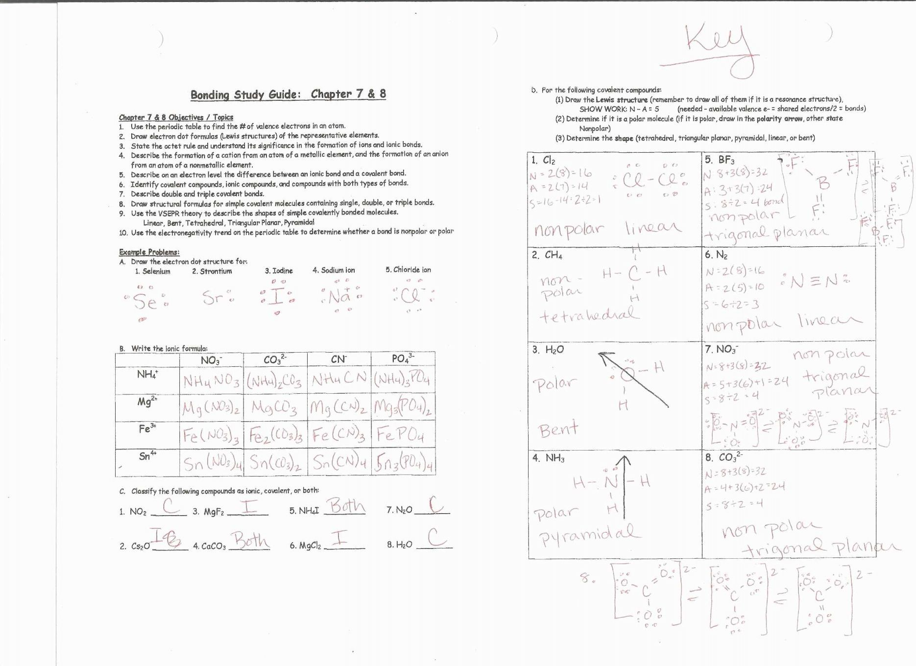 Six Types Of Chemical Reaction Worksheet Answers