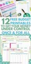 12 Free Printable Bud Worksheets to GET CONTROL OF YOUR MONEY Financial peace Pinterest
