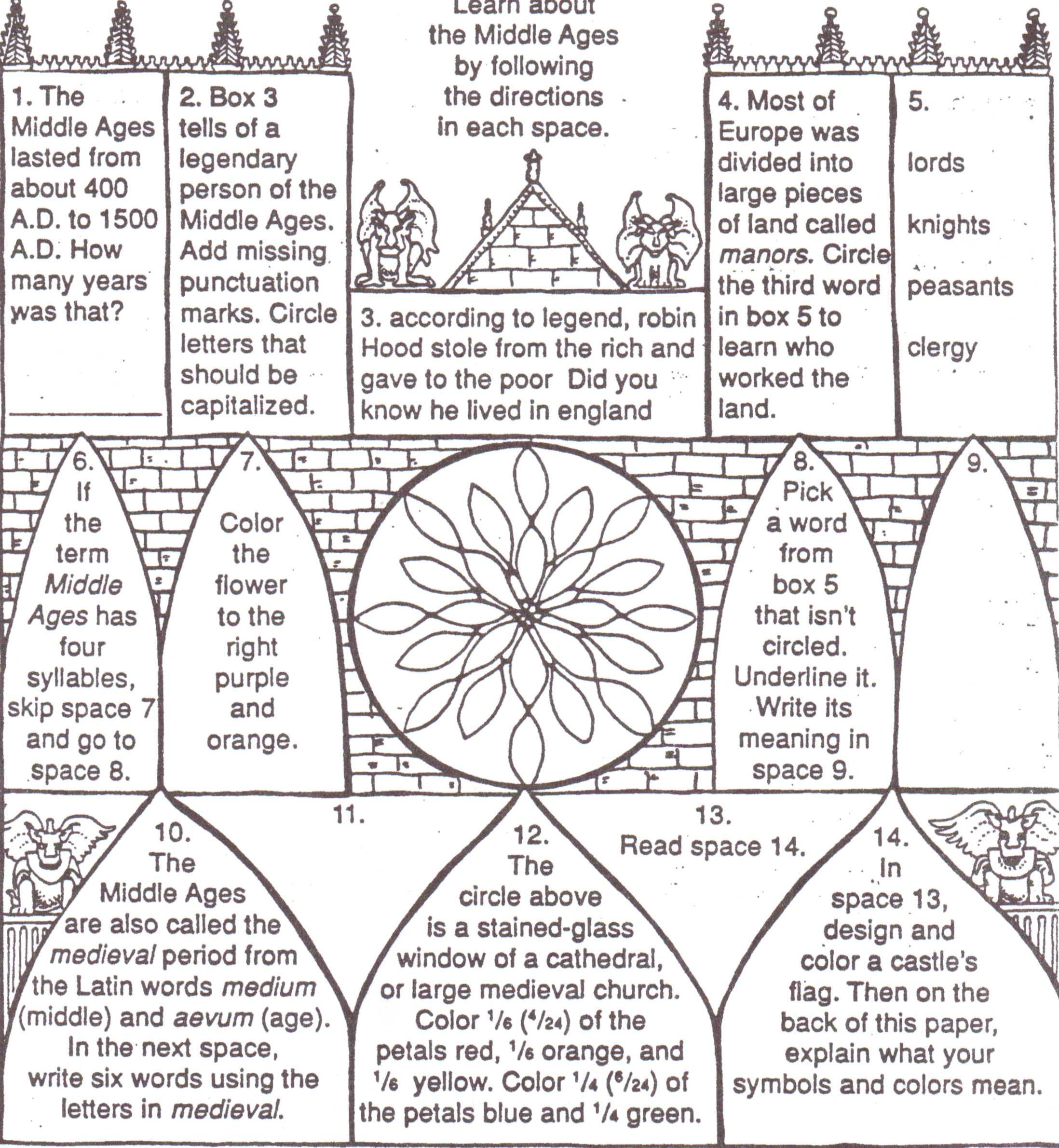 The Prologue To The Canterbury Tales Worksheet Answers