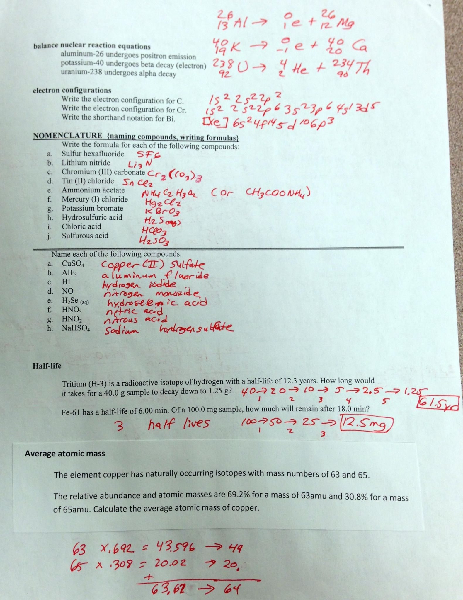 Chemical Bonding Review Worksheet Answers
