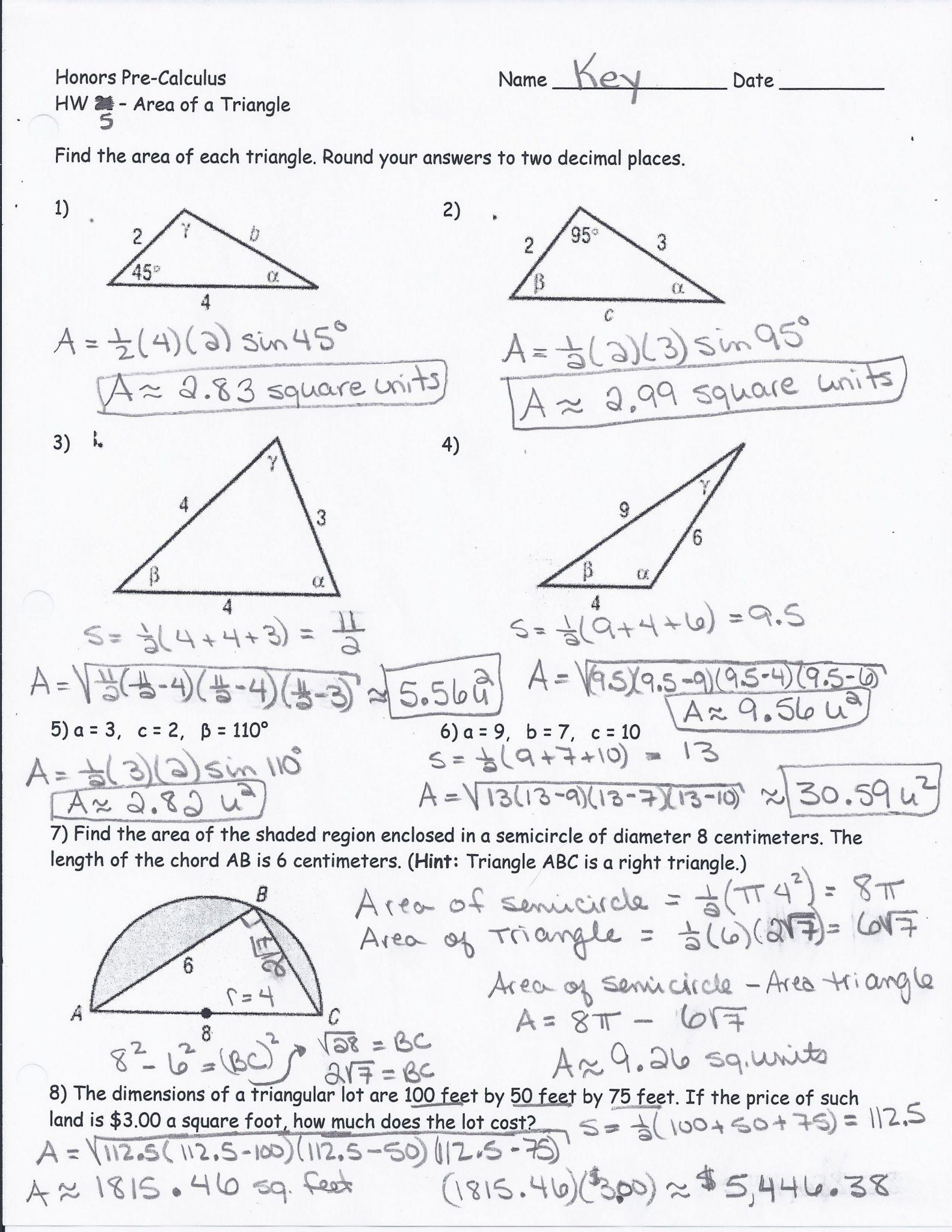 Chemistry Unit 7 Worksheet 2 Answers