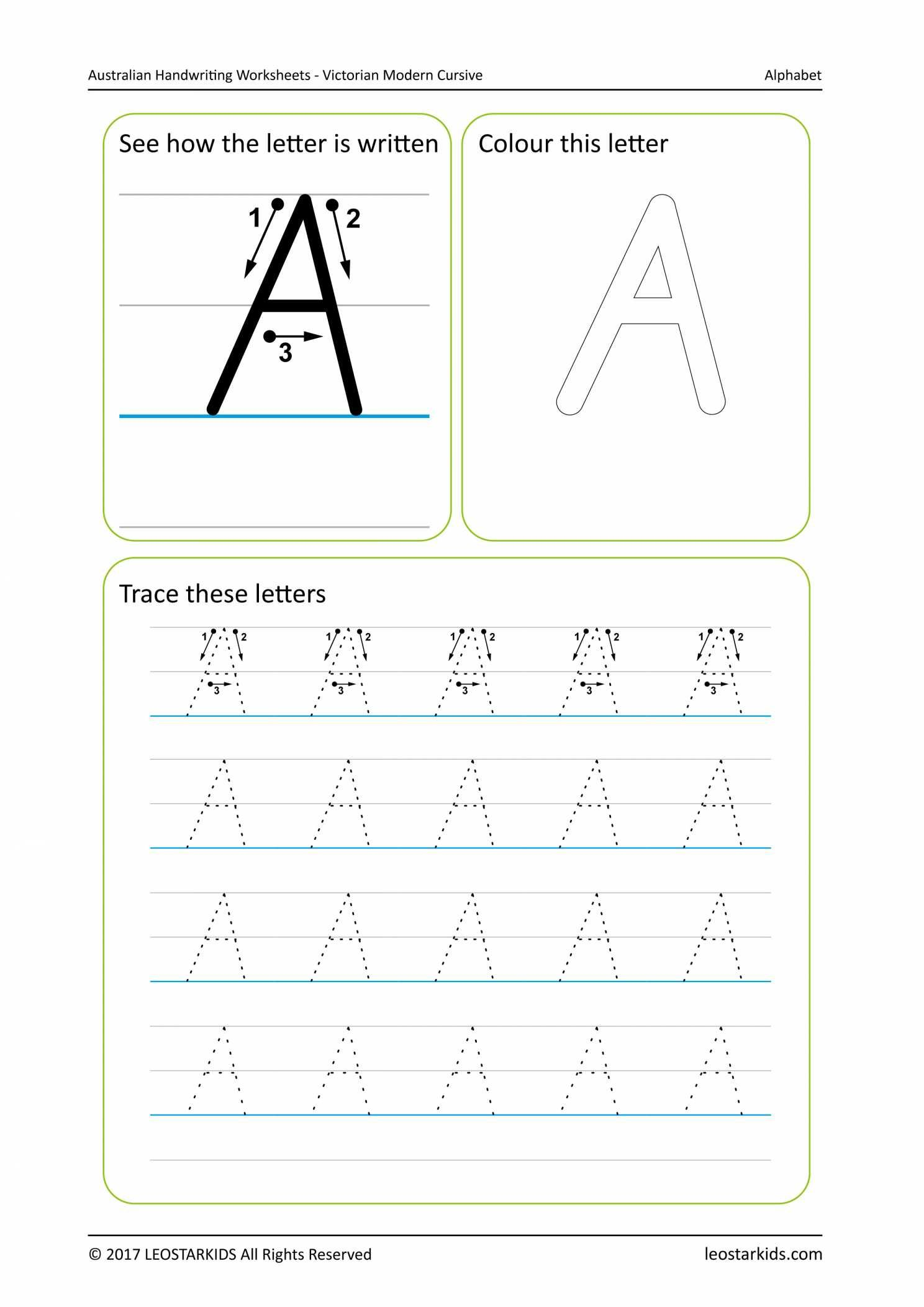 Christmas Handwriting Worksheets