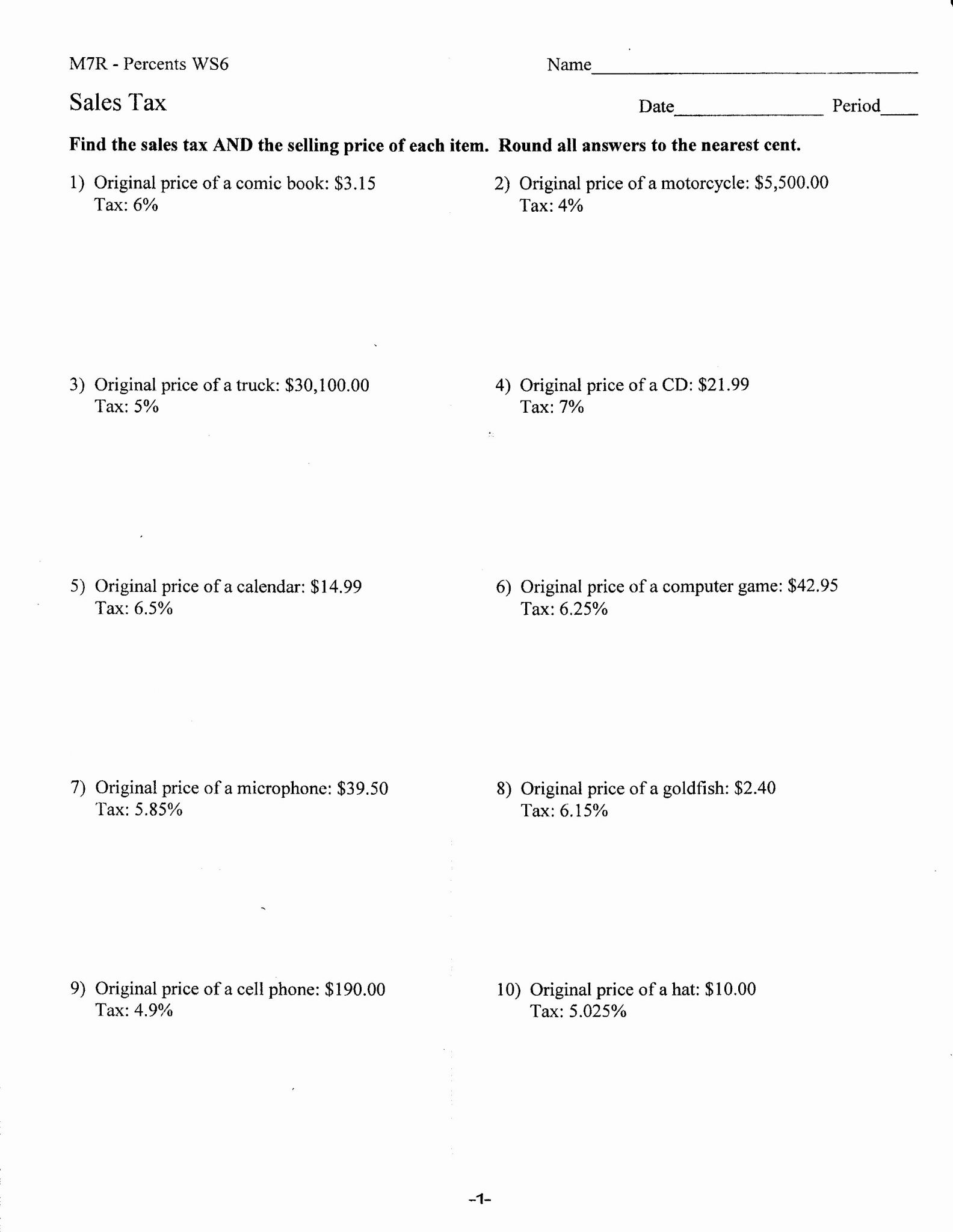 Clothing Donation Worksheet For Taxes