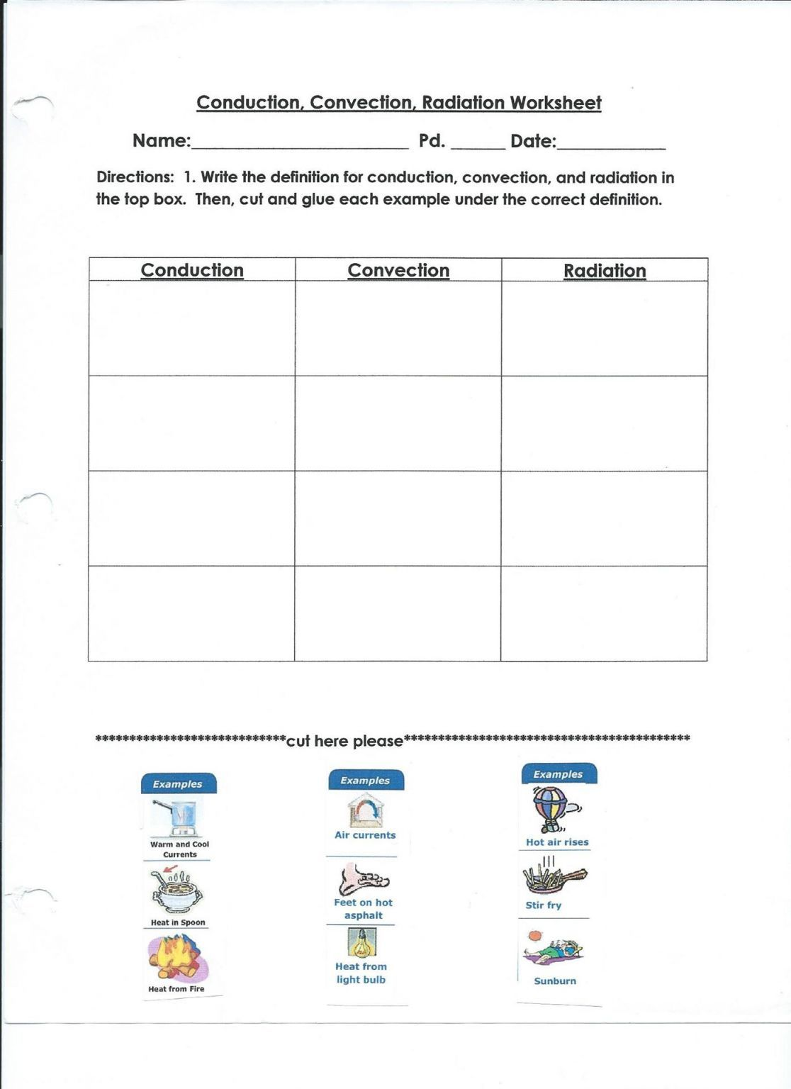 Conduction Convection Or Radiation Worksheet Answers
