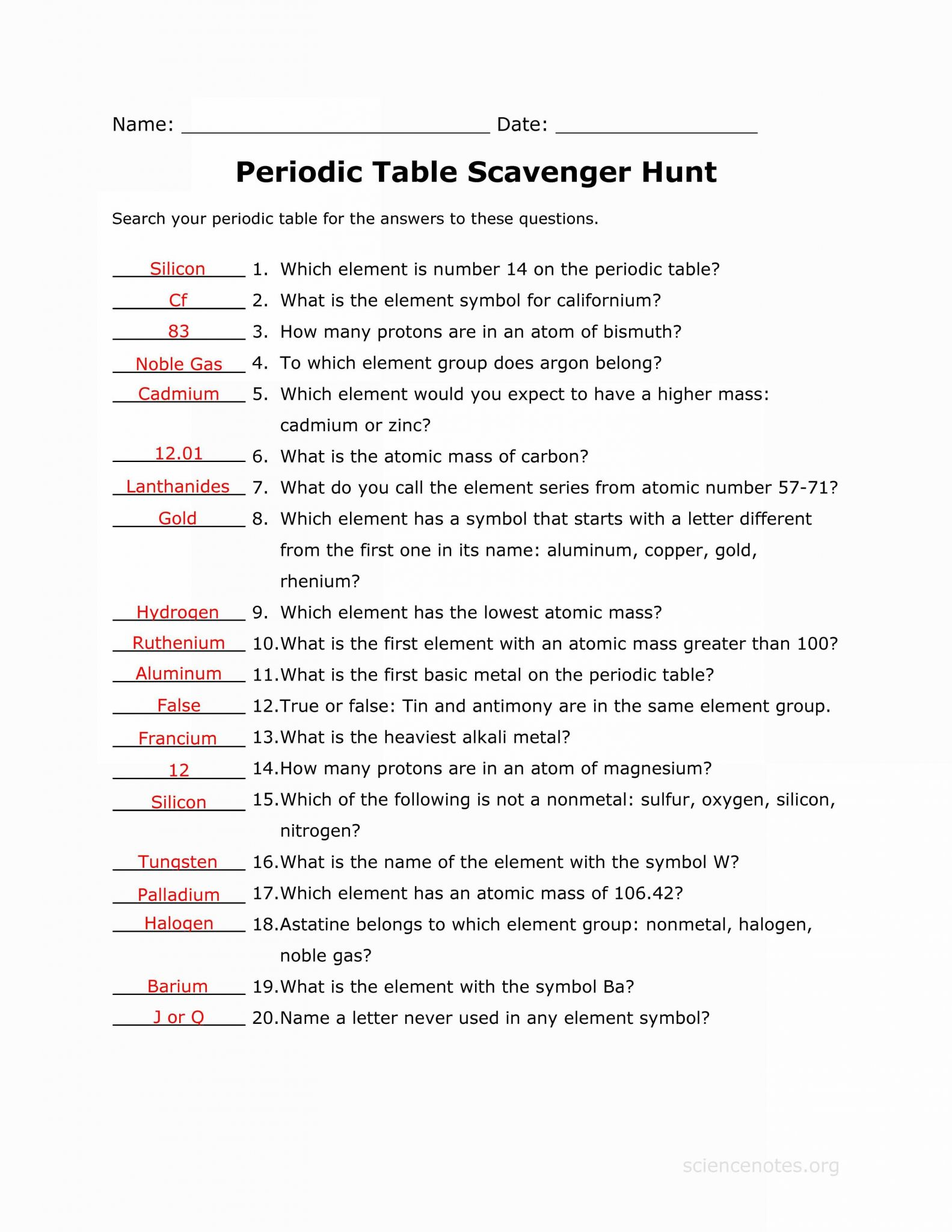 Covalent Bond Practice Worksheet Answers
