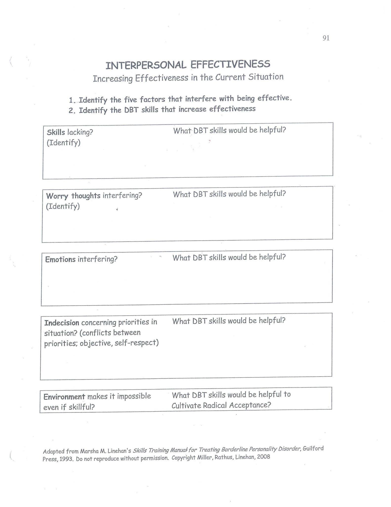 Dear Man Dbt Worksheet