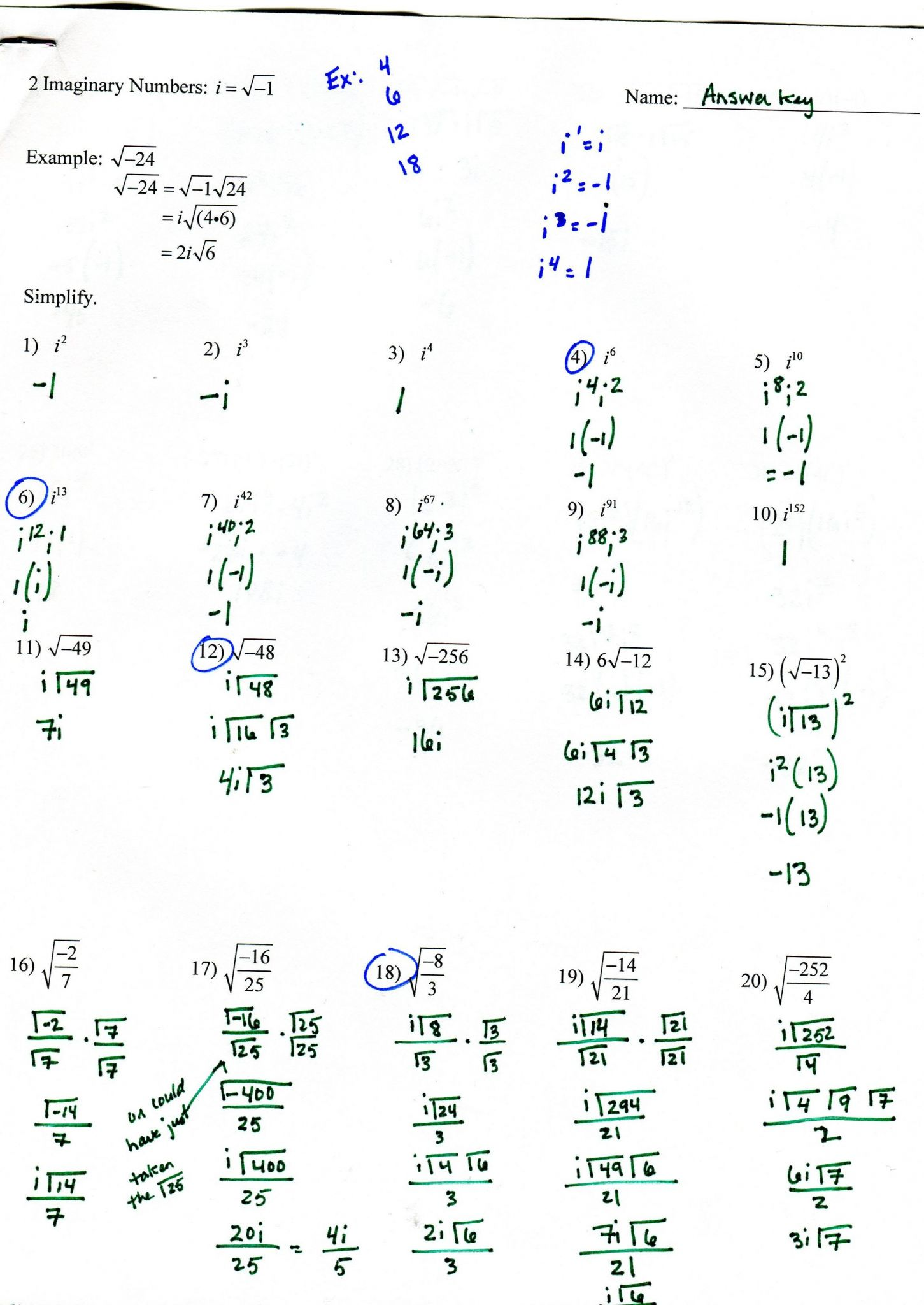 Domain And Range Worksheet 1