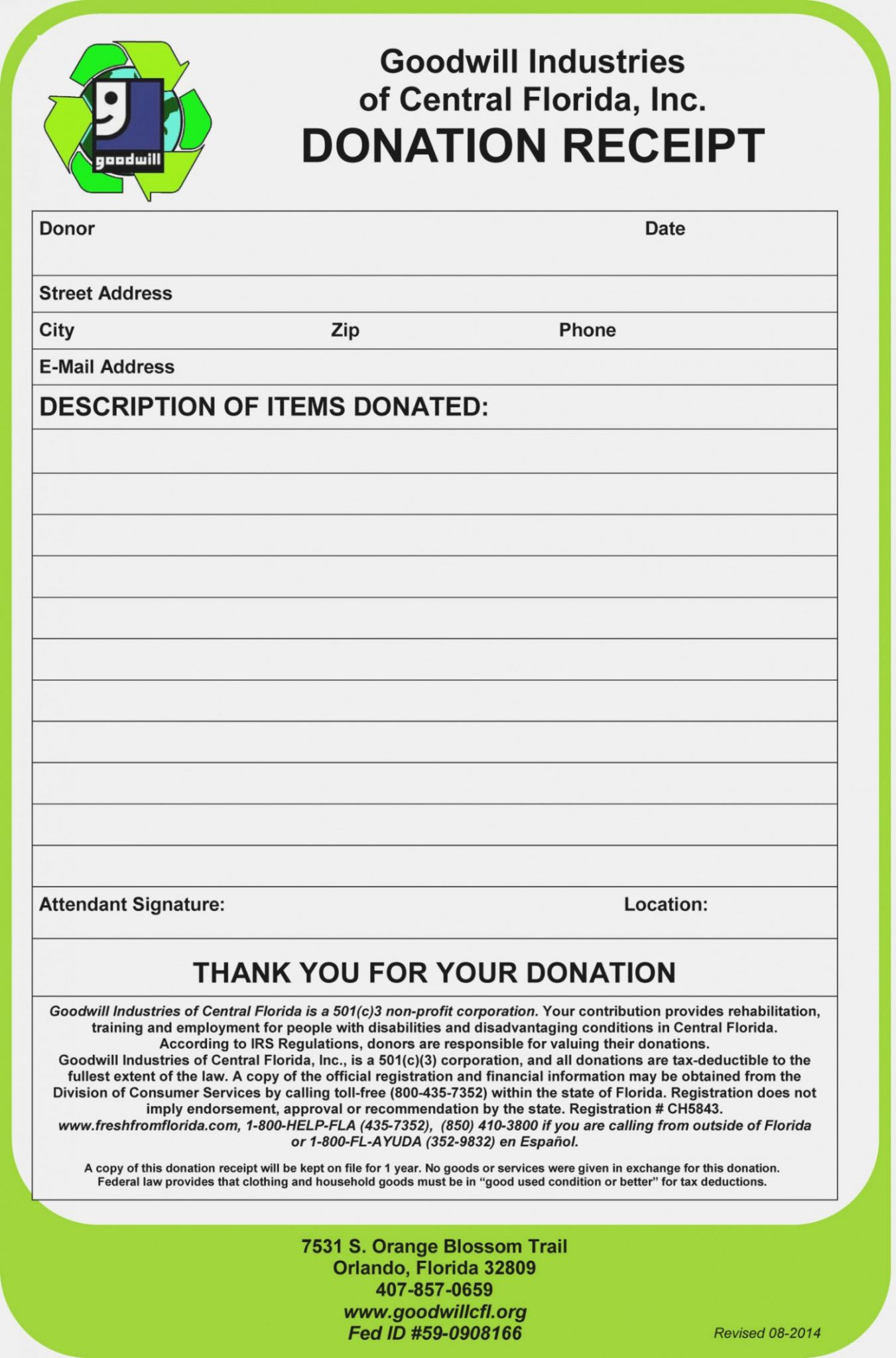 Donation Worksheet Tax Deduction Value
