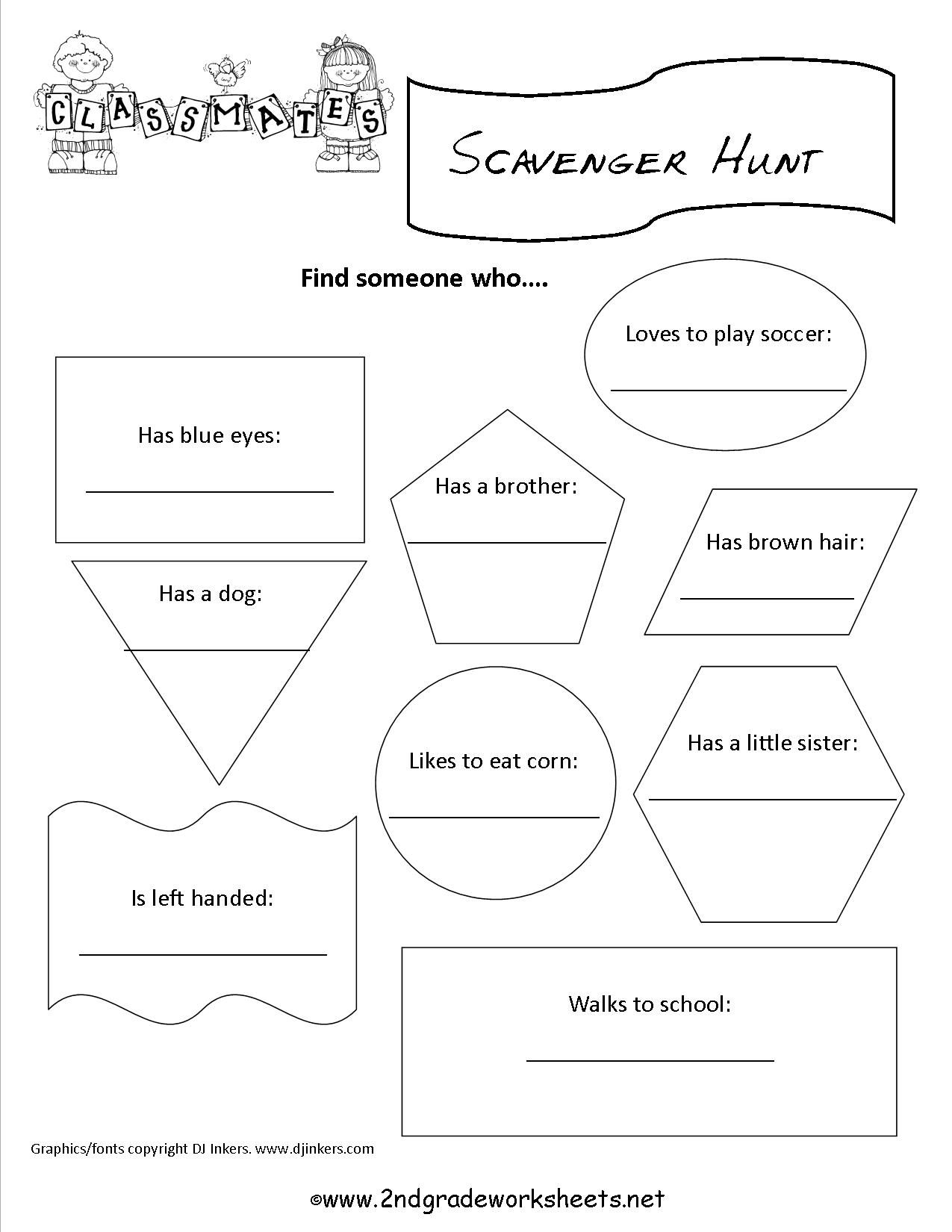 Fun Worksheets For Middle School