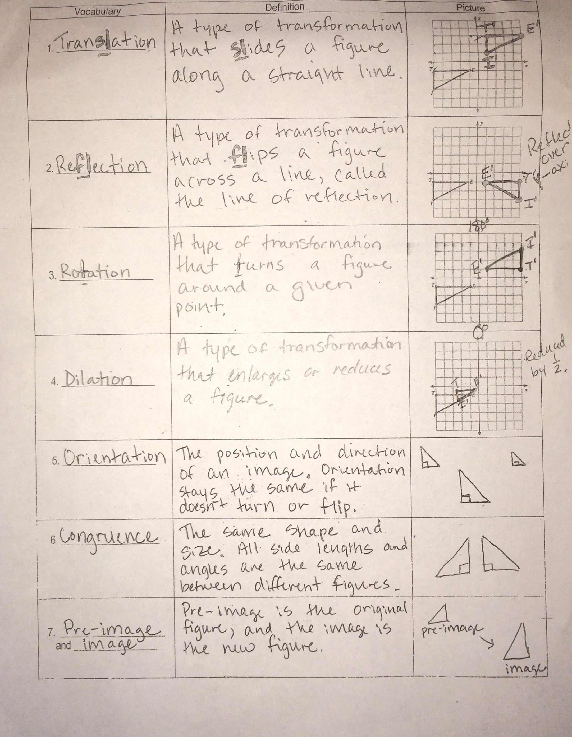Perspective Geometry Worksheet