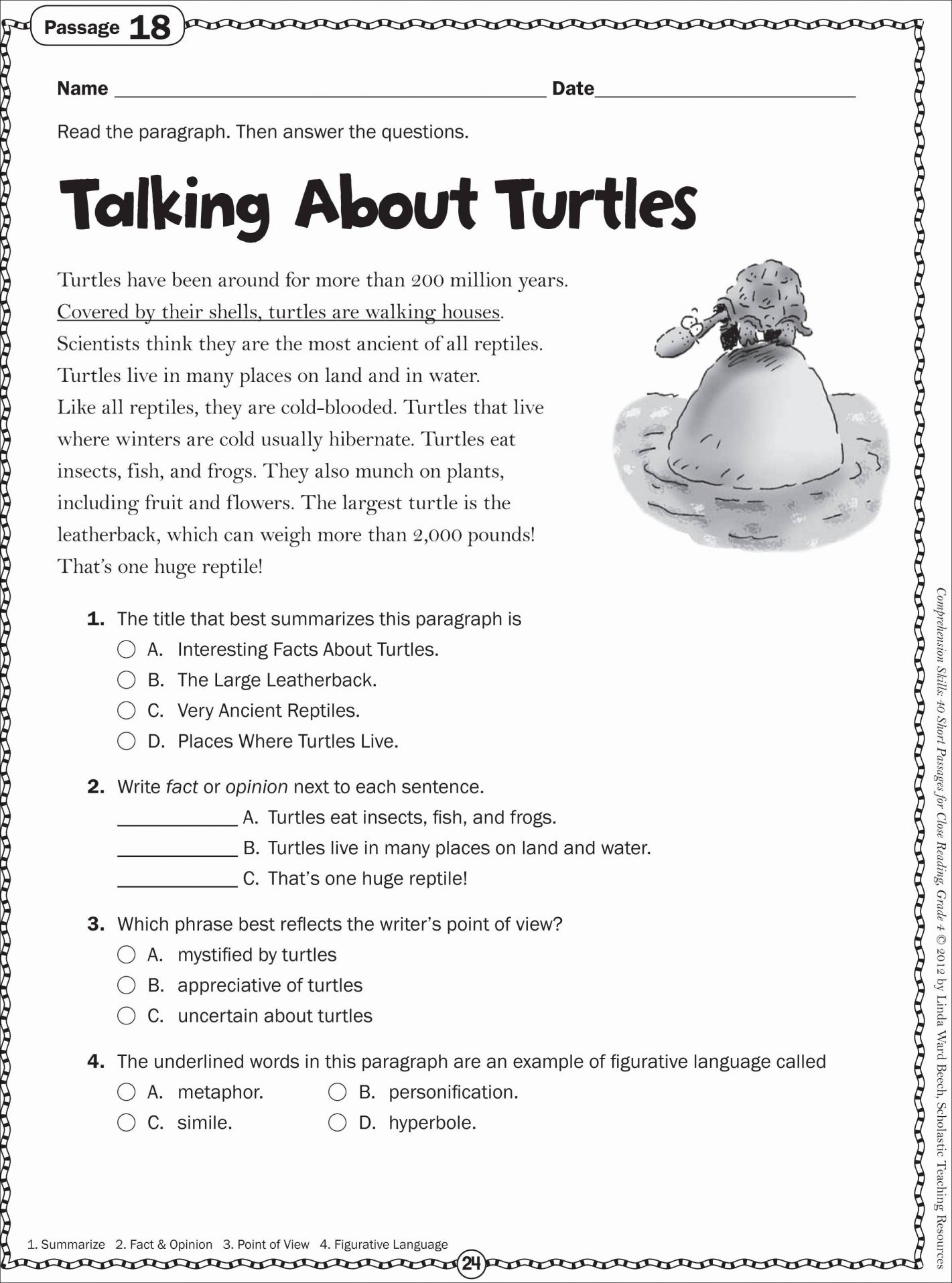 Grade 2 Reading Comprehension Worksheets