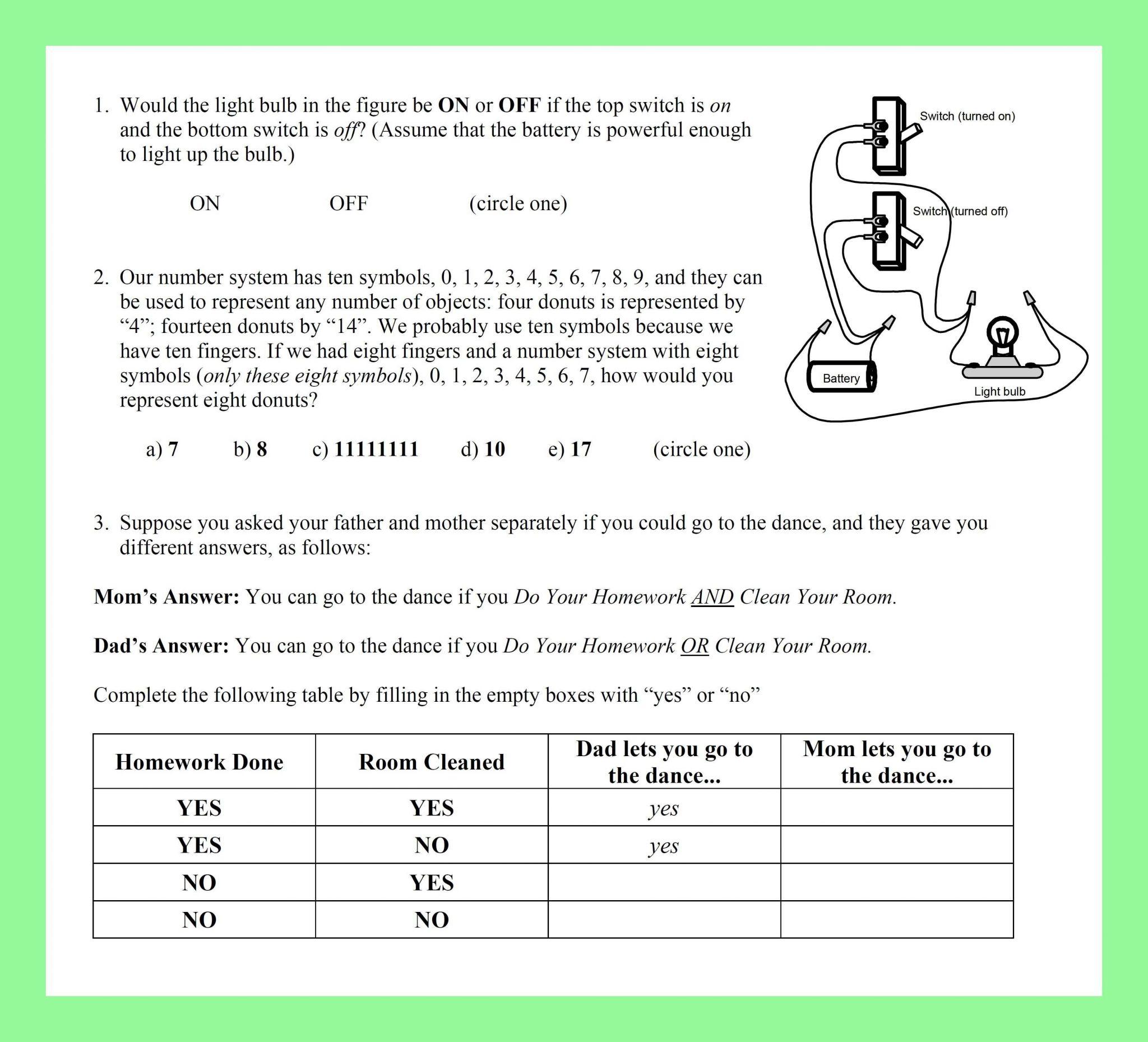 Editing Practice Worksheet High School