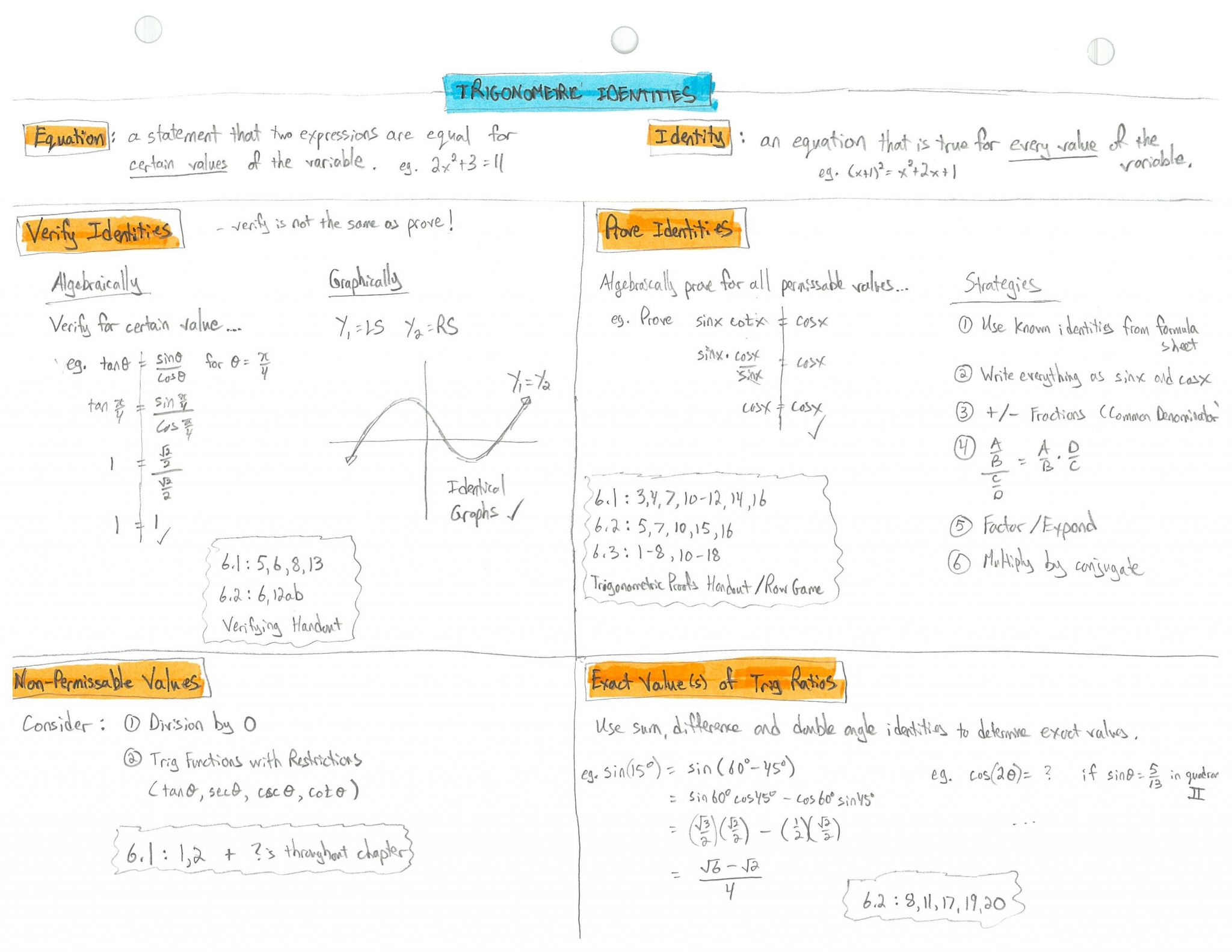 Graphing Sine And Cosine Functions Worksheet Answers