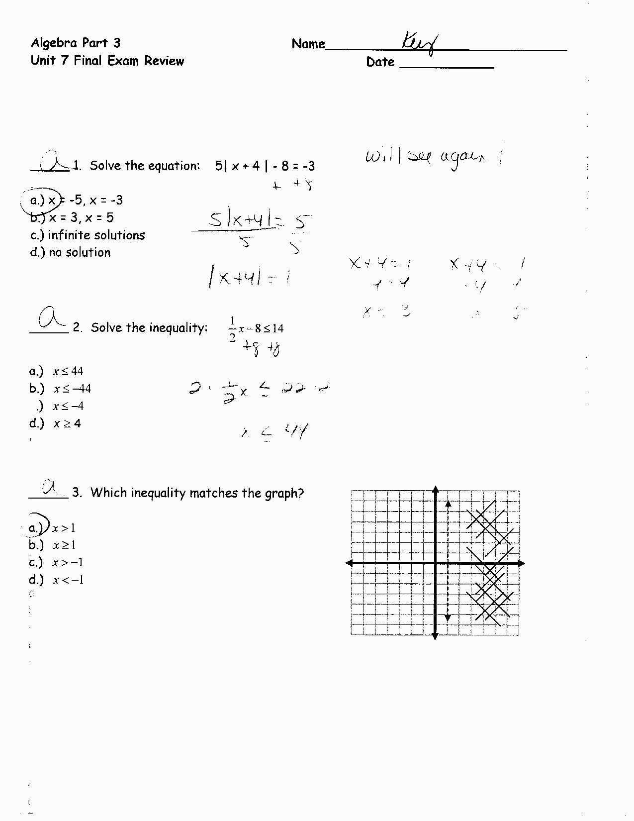 3 2 Solving Systems Of Equations Algebraically Answer Key