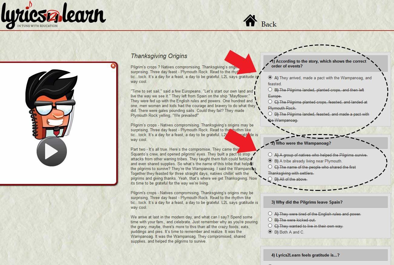 4th Grade Reading Worksheet For Thanksgiving