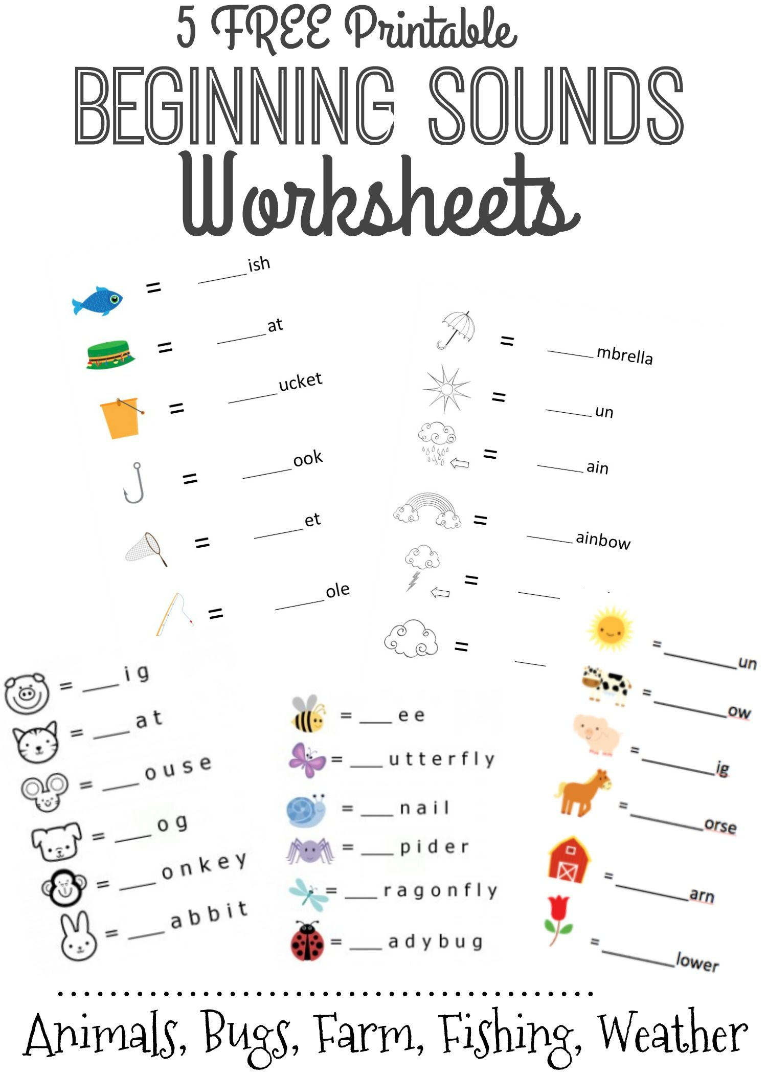 Kindergarten Language Arts Worksheets