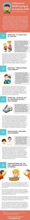 5 Phrases to Avoid Saying to an Anxious Child Infographic