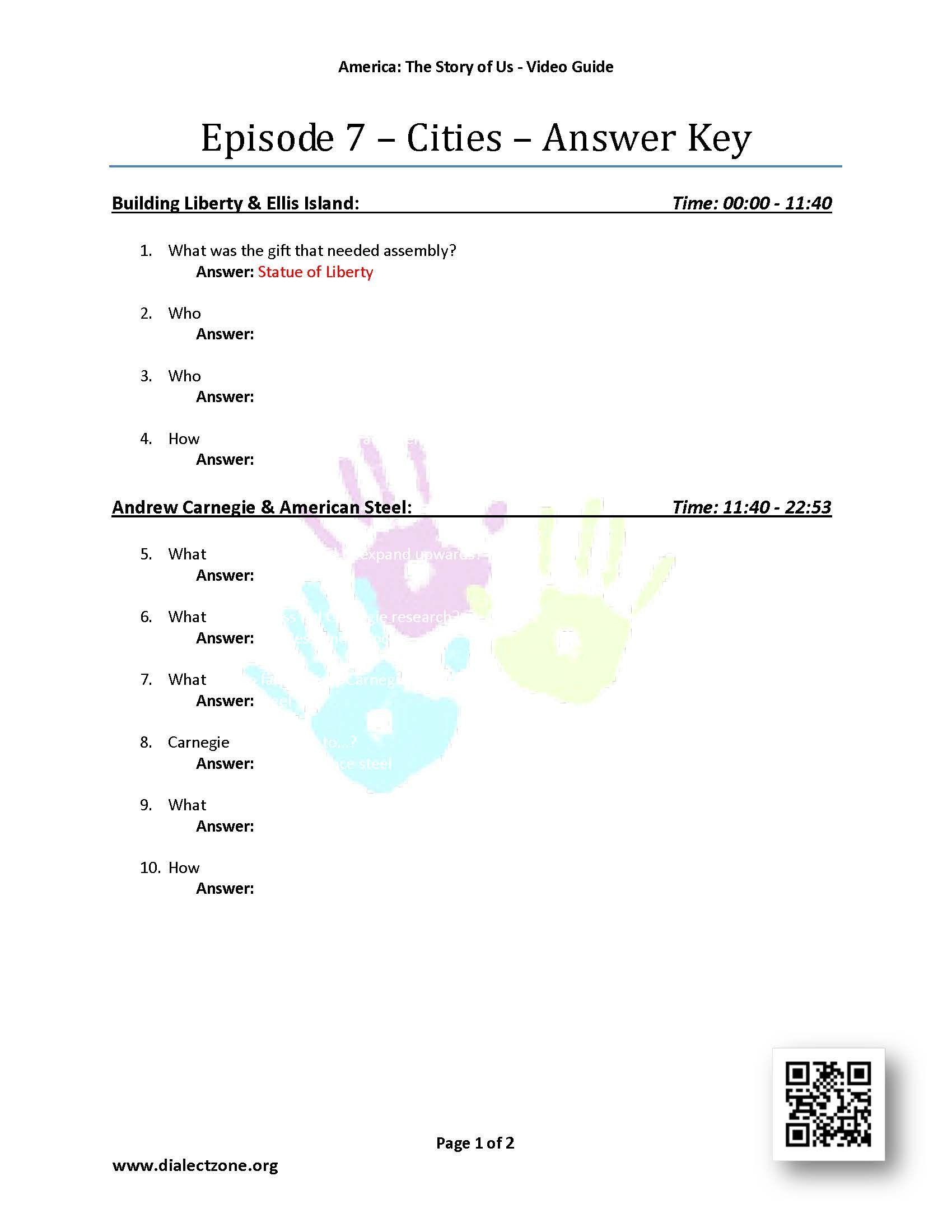 Liberty Kids Worksheets