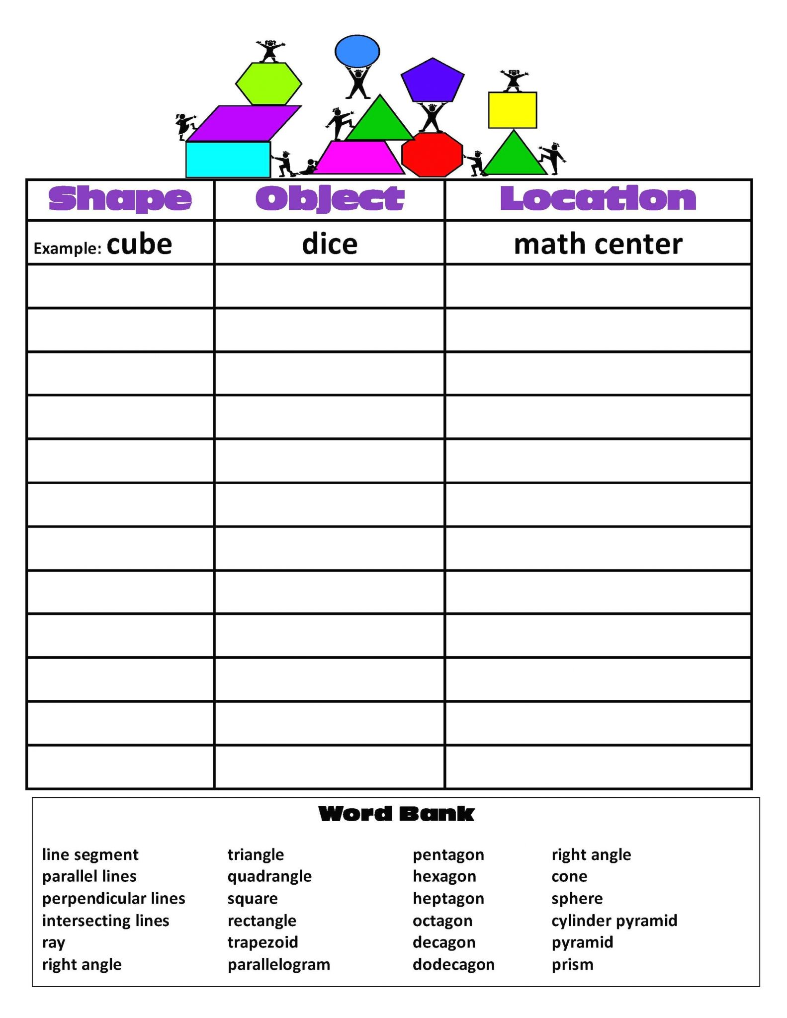 Lines Line Segments And Rays Worksheets