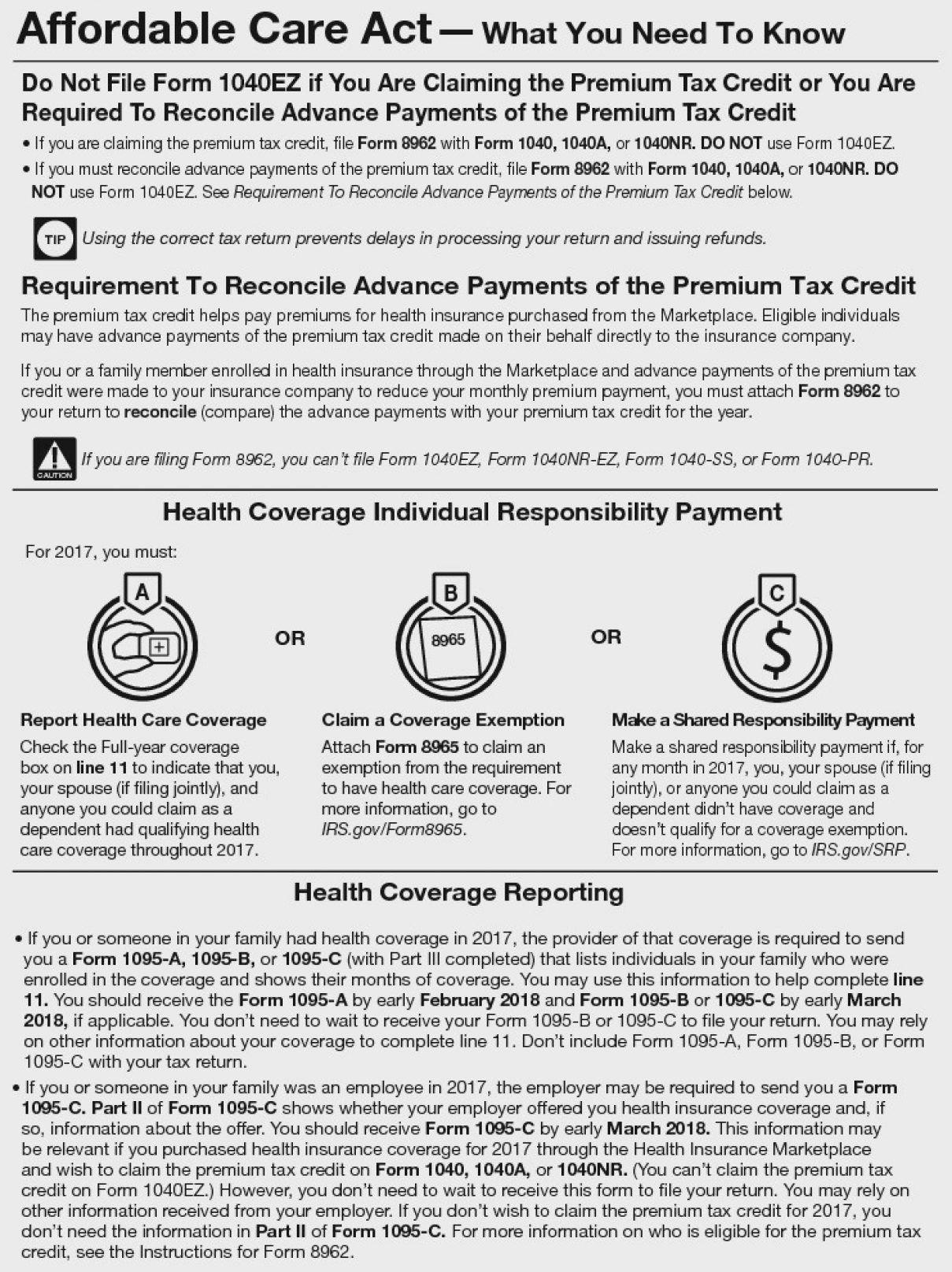Marketplace Coverage Affordability Worksheet