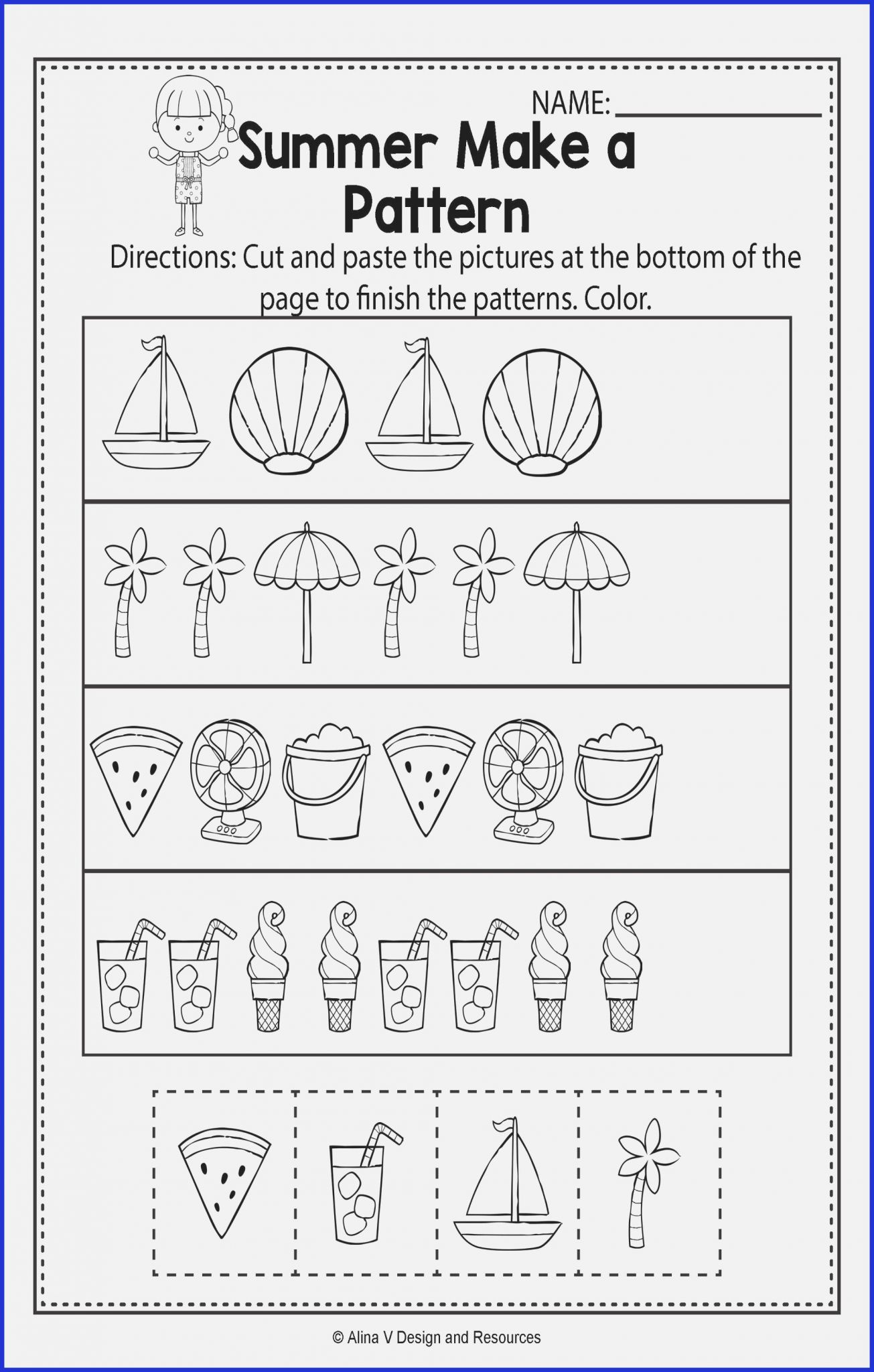 Matching Numbers Worksheets