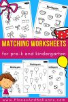 Ffree printable matching worksheets for PRESCHOOL Theme neutral worksheets I can use year round