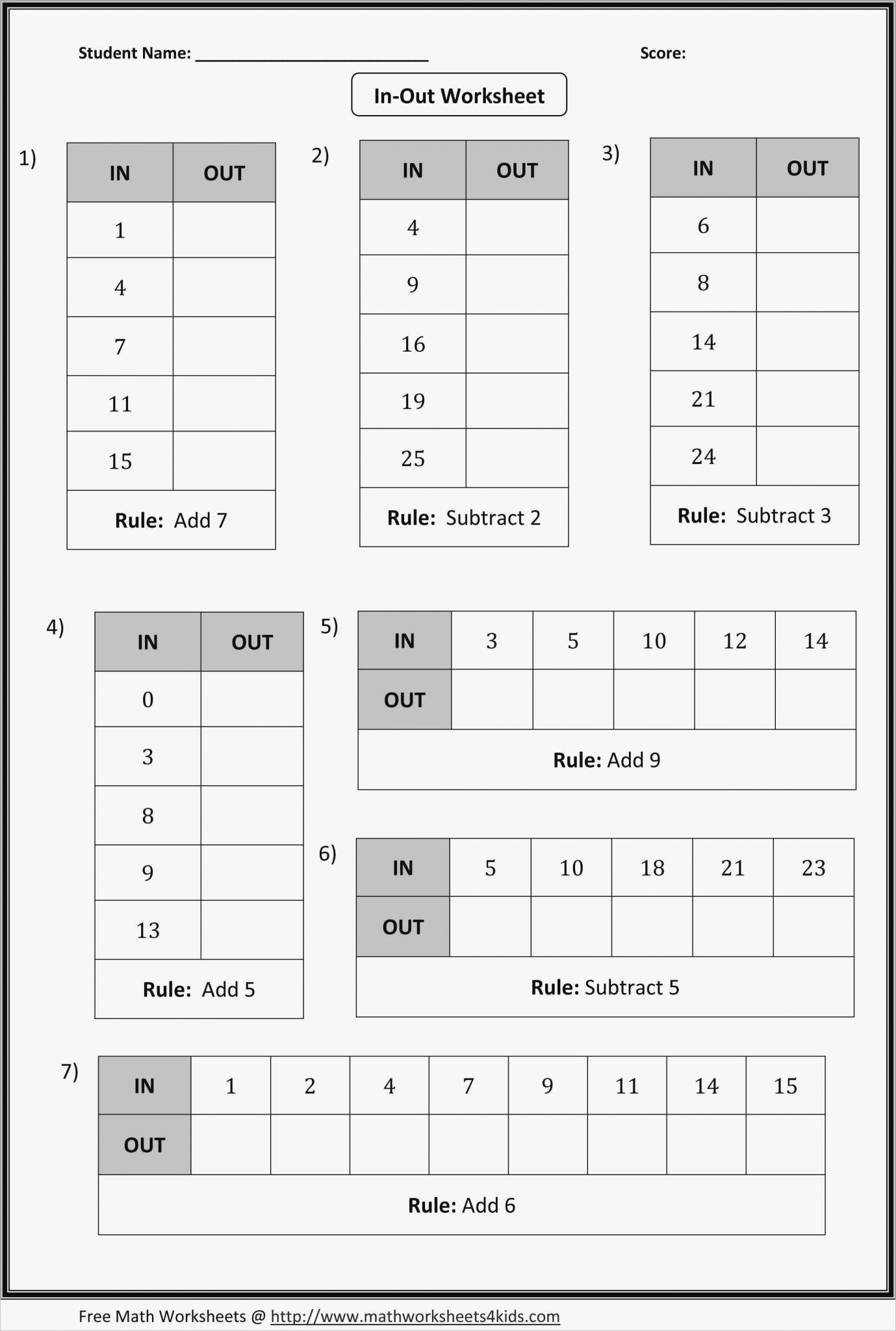 6th Grade Math Fraction Worksheet