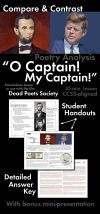 "Print and teach materials to use with Walt Whitman s beloved ""O Captain My Captain "" poem Use this 45 minute lesson as a stand alone lesson or with a"
