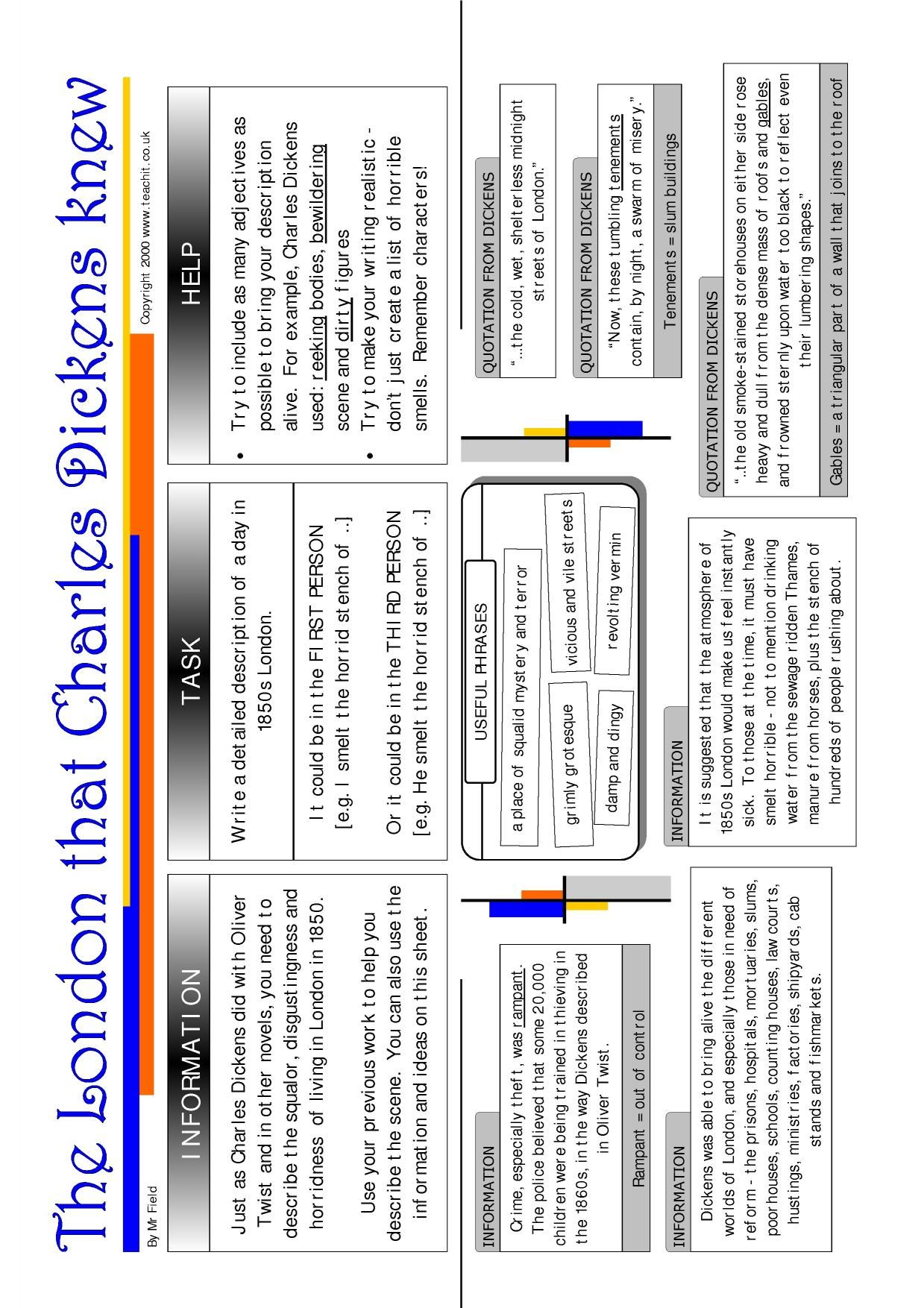Oliver Twist Worksheets Activities