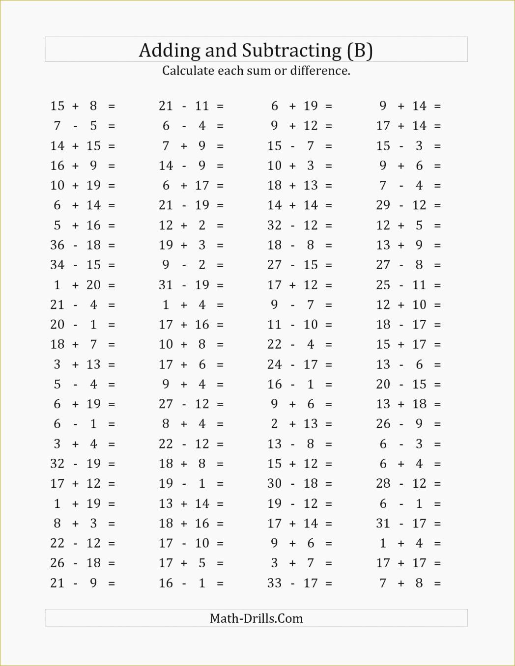 Operations With Integers Worksheet