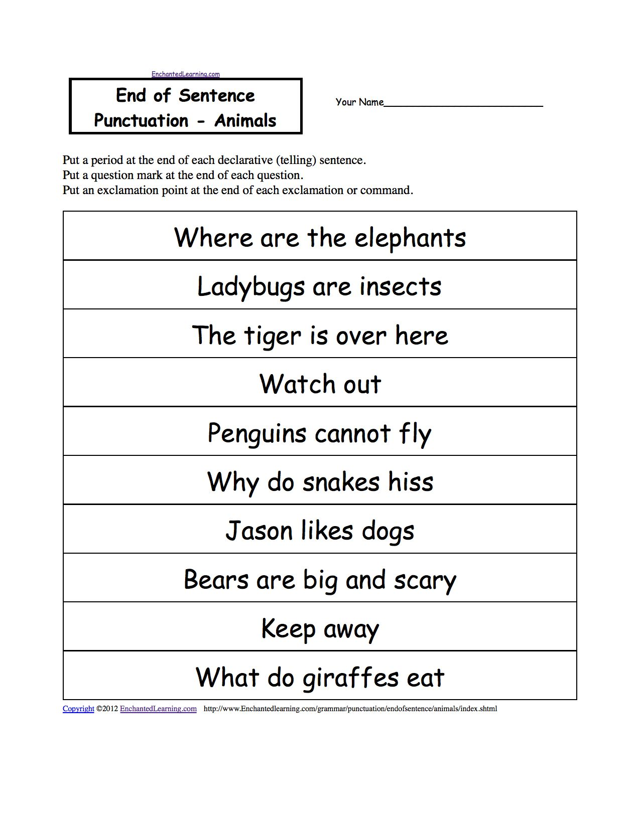 Paragraph Correction Worksheets