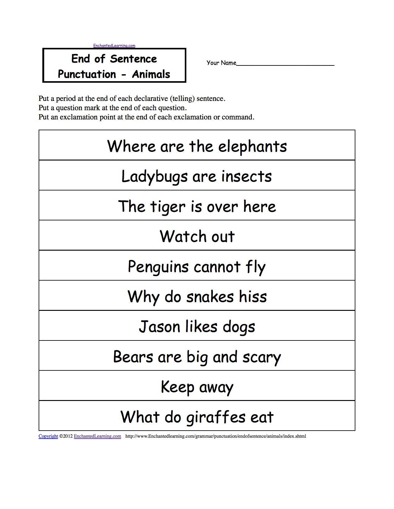Paragraph Correction Worksheets