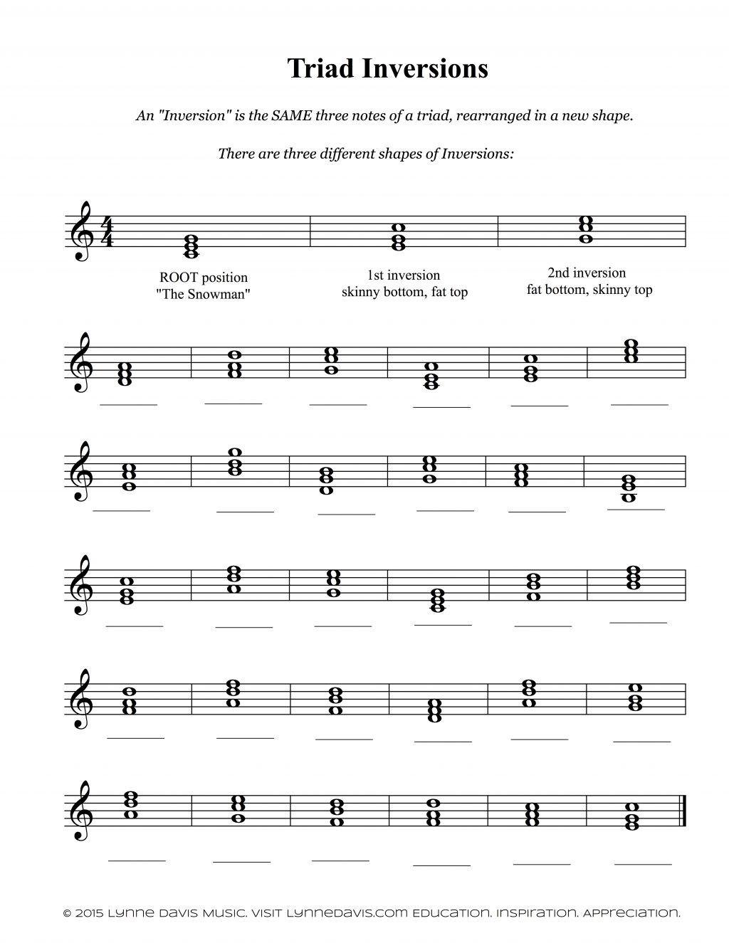 Piano Theory Worksheets