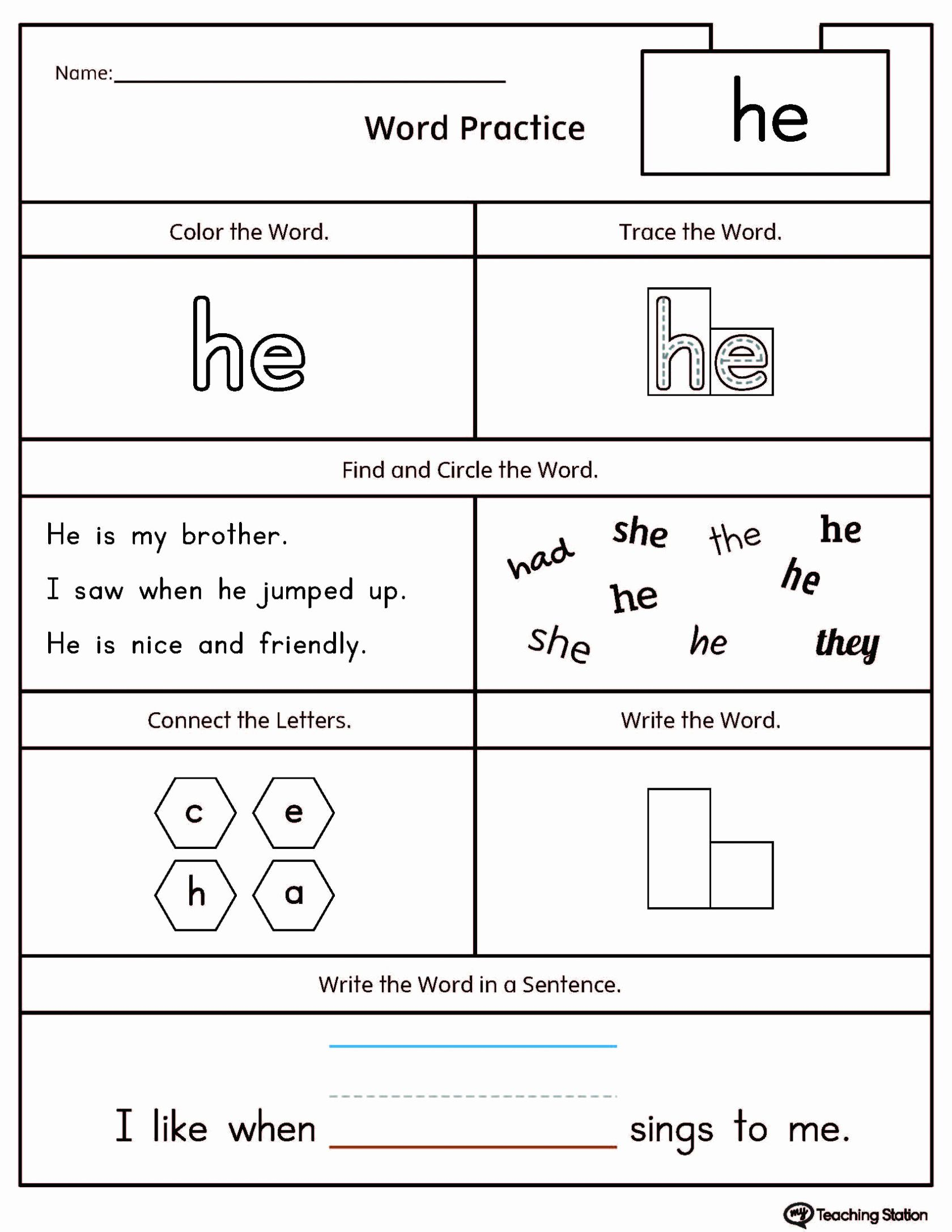 Present Tense Spanish Worksheet